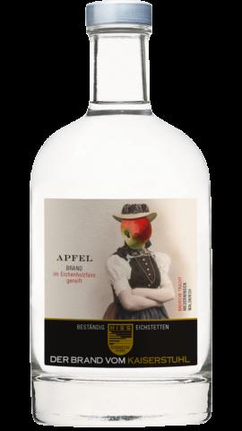 Produktfoto - Apfelbrand im Eichenholzfass gereift aus der Linie Beständig von Weingut Hiss aus Kaiserstuhl, Eichstetten