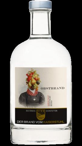 Produktfoto - Obstbrand mit Fruchtauszug aus der Linie Beständig von Weingut Hiss aus Kaiserstuhl, Eichstetten