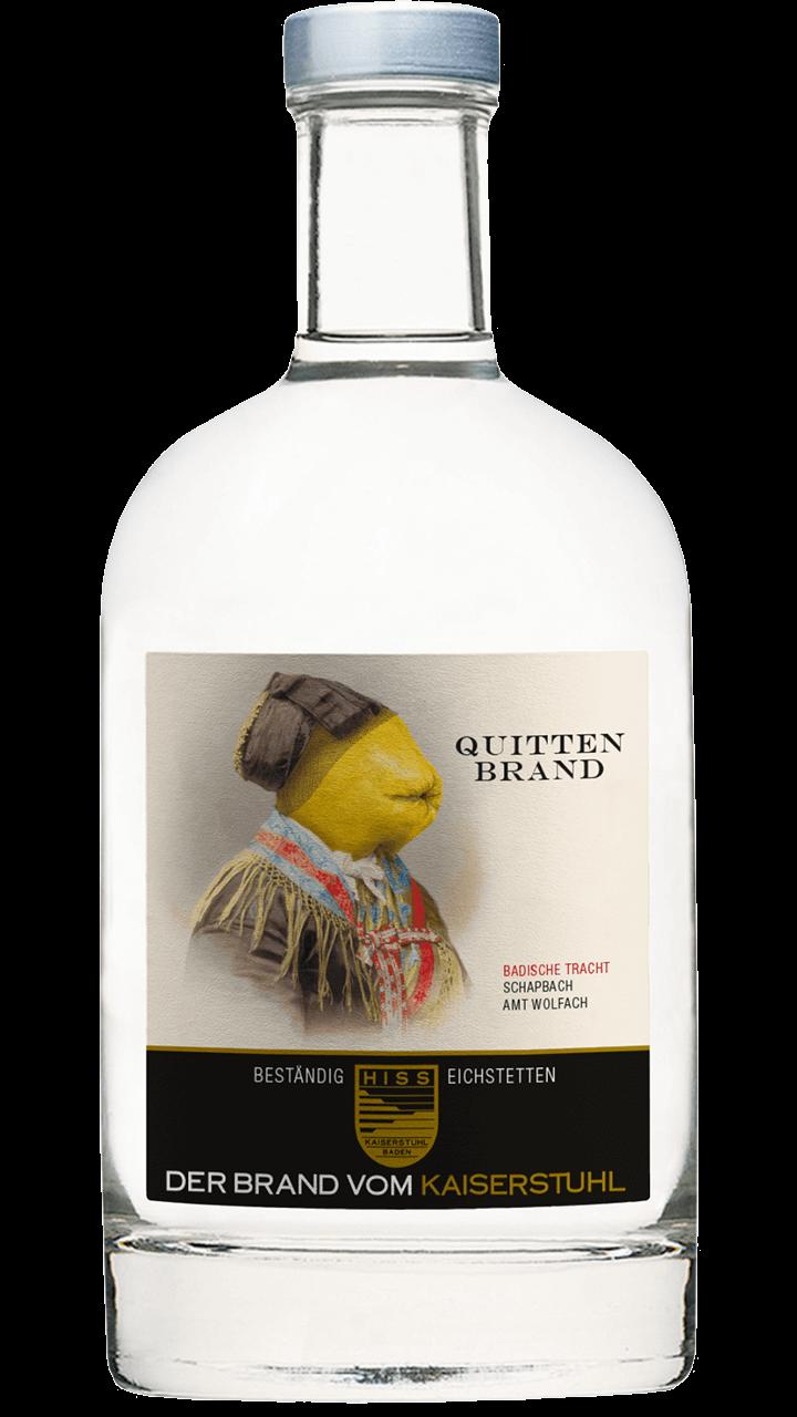Produktfoto - Quittenbrand  aus der Linie Beständig von Weingut Hiss aus Kaiserstuhl, Eichstetten