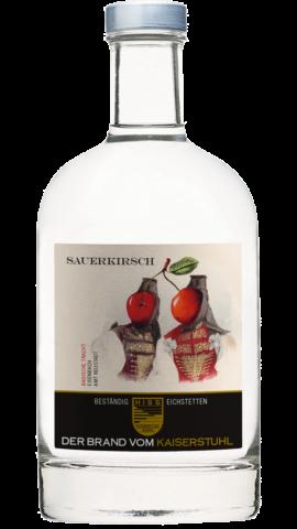 Produktfoto - Sauerkirschbrand  aus der Linie Beständig von Weingut Hiss aus Kaiserstuhl, Eichstetten
