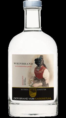 Produktfoto - Weinbrand im Eichenholzfass gereift aus der Linie Beständig von Weingut Hiss aus Kaiserstuhl, Eichstetten