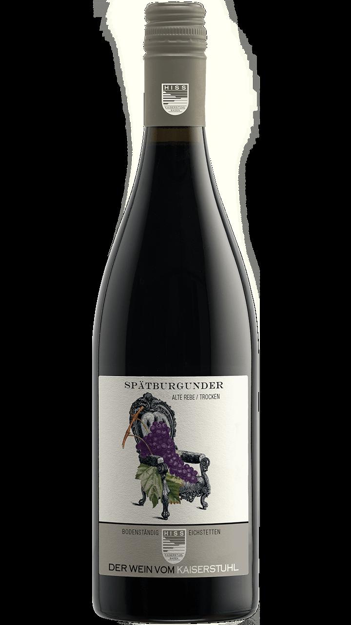 Produktfoto - Spätburgunder Alte Rebe trocken 2015 aus der Linie Bodenständig von Weingut Hiss aus Kaiserstuhl, Eichstetten