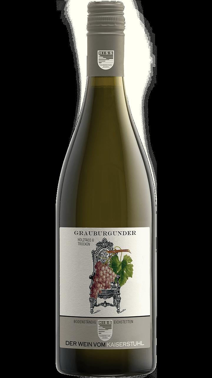 Produktfoto - Grauburgunder Holzfass 6 trocken 2016 aus der Linie Bodenständig von Weingut Hiss aus Kaiserstuhl, Eichstetten