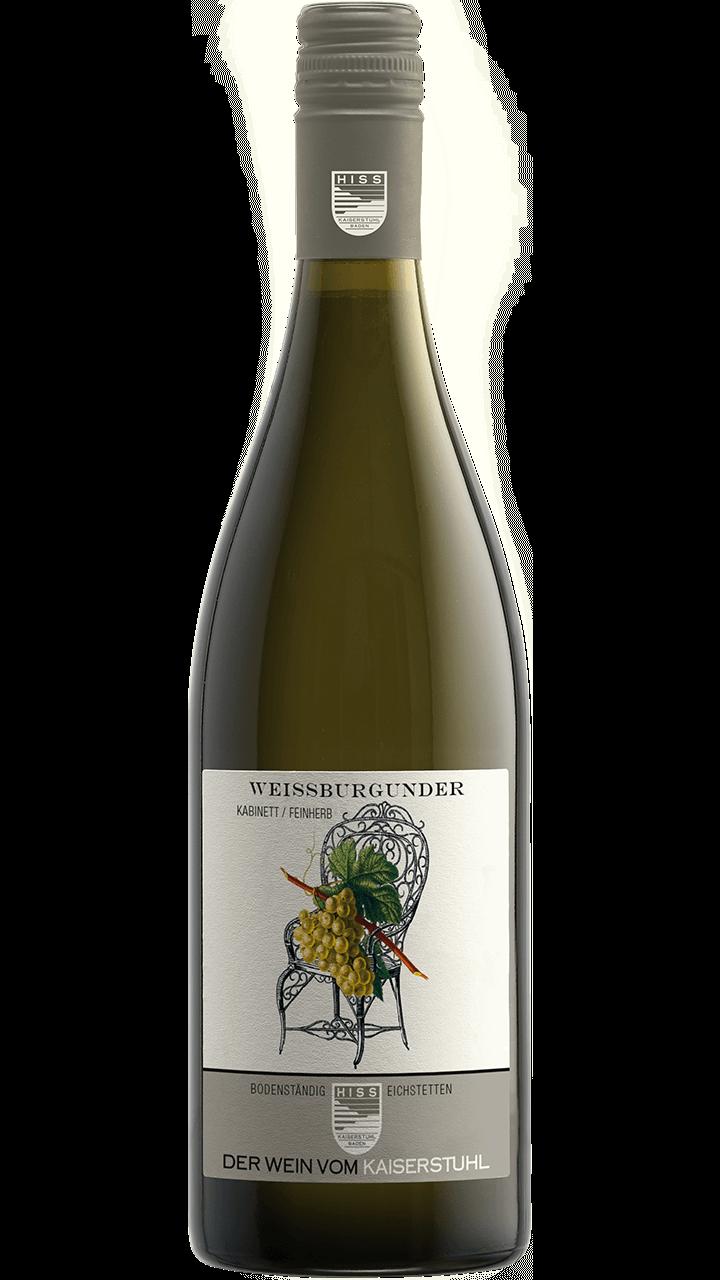 Produktfoto - Weißburgunder Kabinett feinherb 2017 aus der Linie Bodenständig von Weingut Hiss aus Kaiserstuhl, Eichstetten