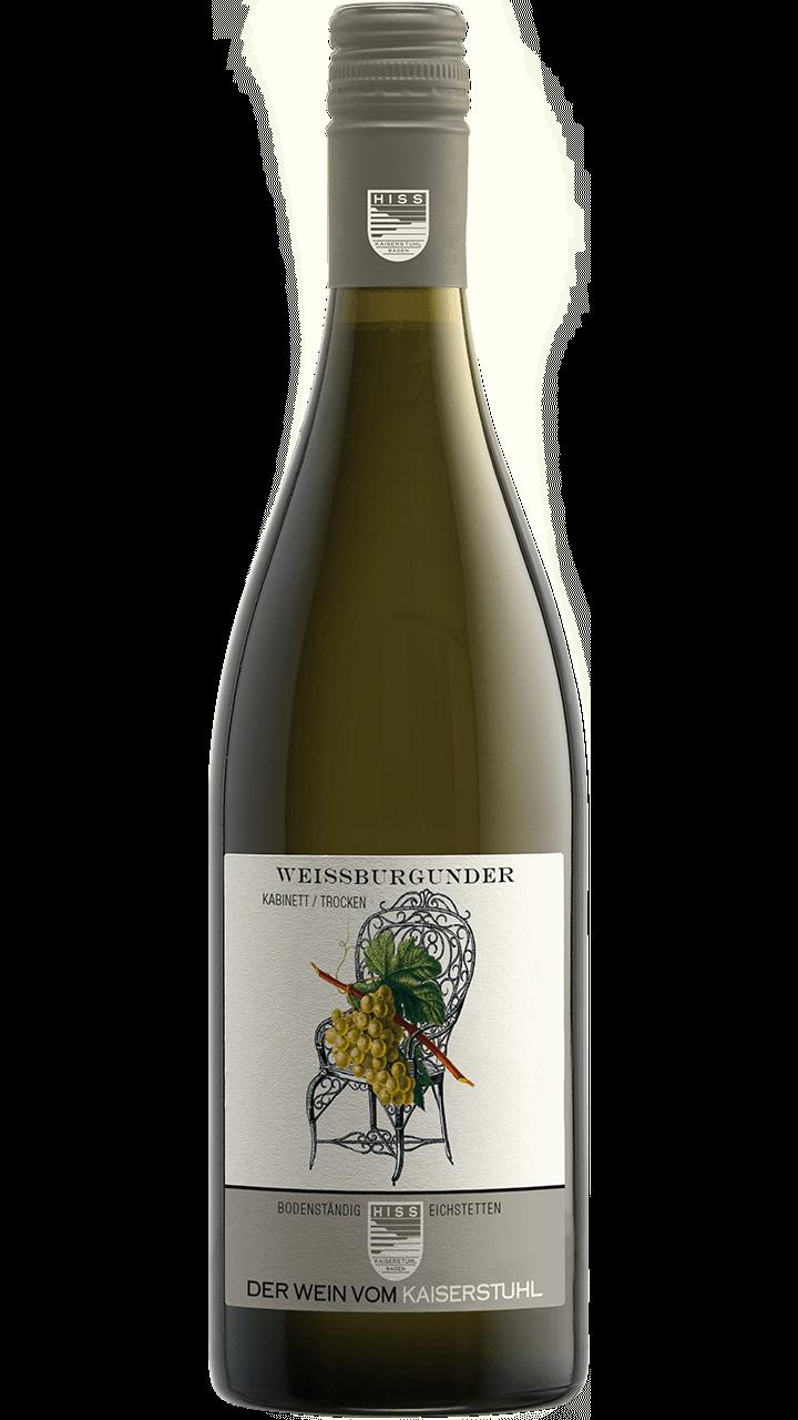 Produktfoto - Weißburgunder Kabinett trocken 2017 aus der Linie Bodenständig von Weingut Hiss aus Kaiserstuhl, Eichstetten