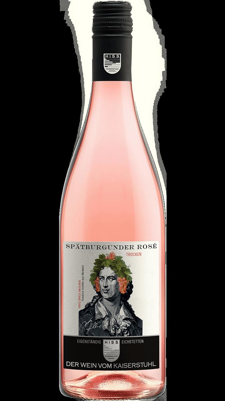Produktfoto - Spätburgunder Rosé trocken 2017 aus der Linie Eigenständig von Weingut Hiss aus Kaiserstuhl, Eichstetten
