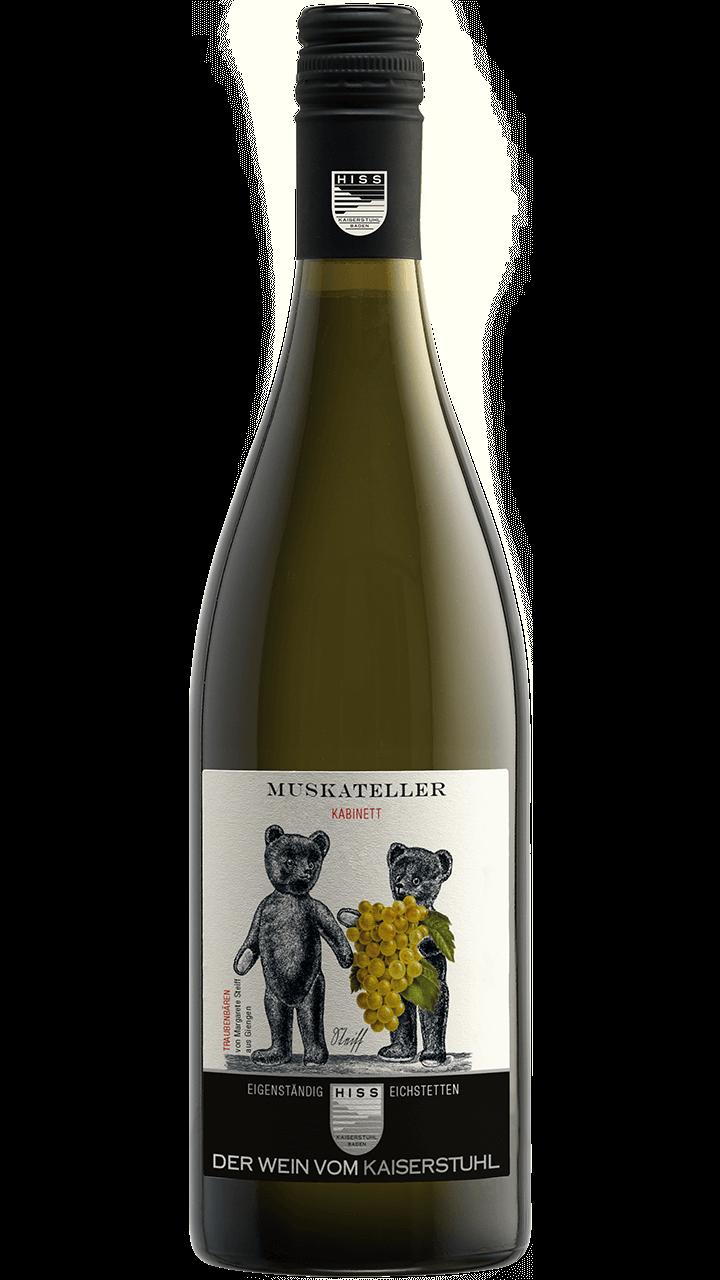 Produktfoto - Muskateller Kabinett 2018 aus der Linie Eigenständig von Weingut Hiss aus Kaiserstuhl, Eichstetten