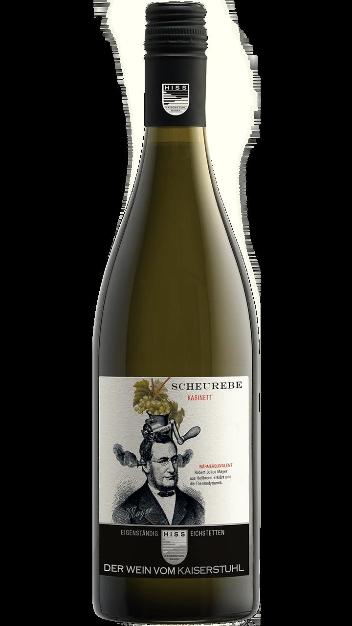 Produktfoto - Scheurebe Kabinett 2017 aus der Linie Eigenständig von Weingut Hiss aus Kaiserstuhl, Eichstetten
