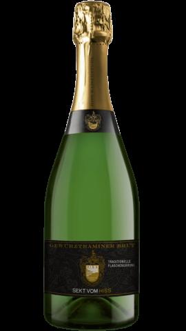 Produktfoto - Gewürztraminer brut traditionelle Flaschengärung aus der Linie Sekt & Secco von Weingut Hiss aus Kaiserstuhl, Eichstetten