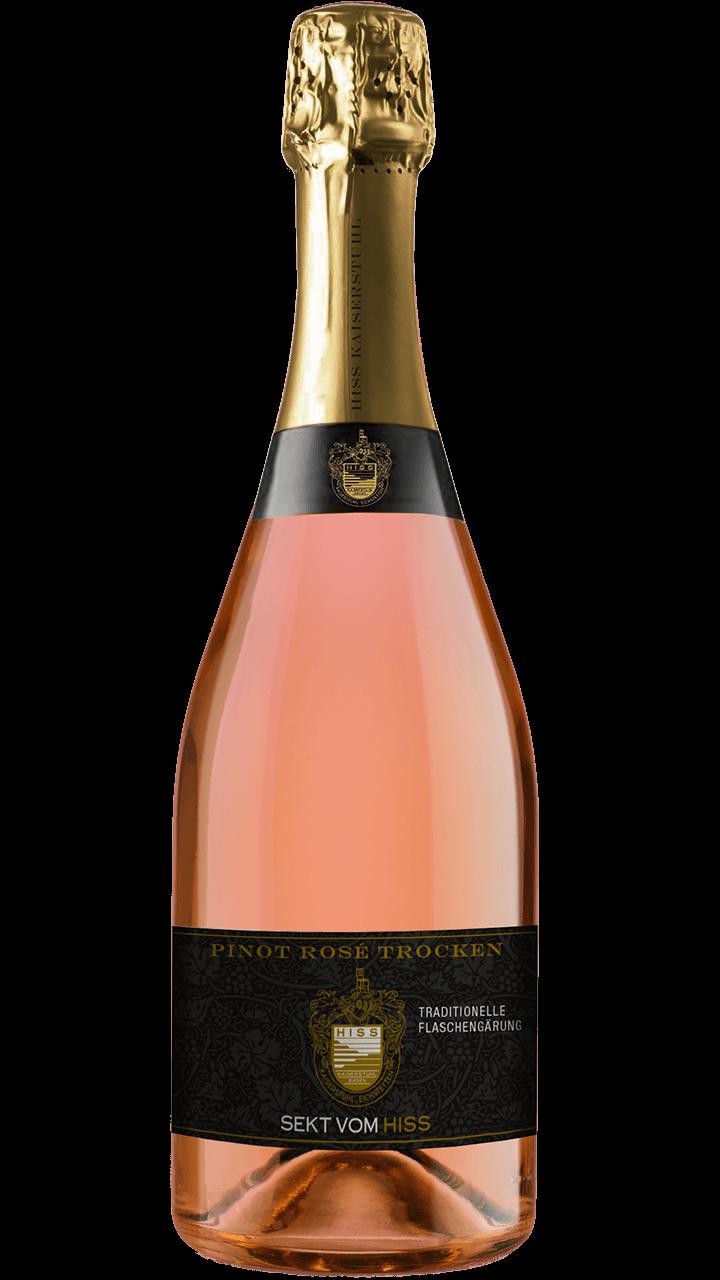 Produktfoto - Pinot Rosé trocken traditionelle Flaschengärung aus der Linie Sekt & Secco von Weingut Hiss aus Kaiserstuhl, Eichstetten