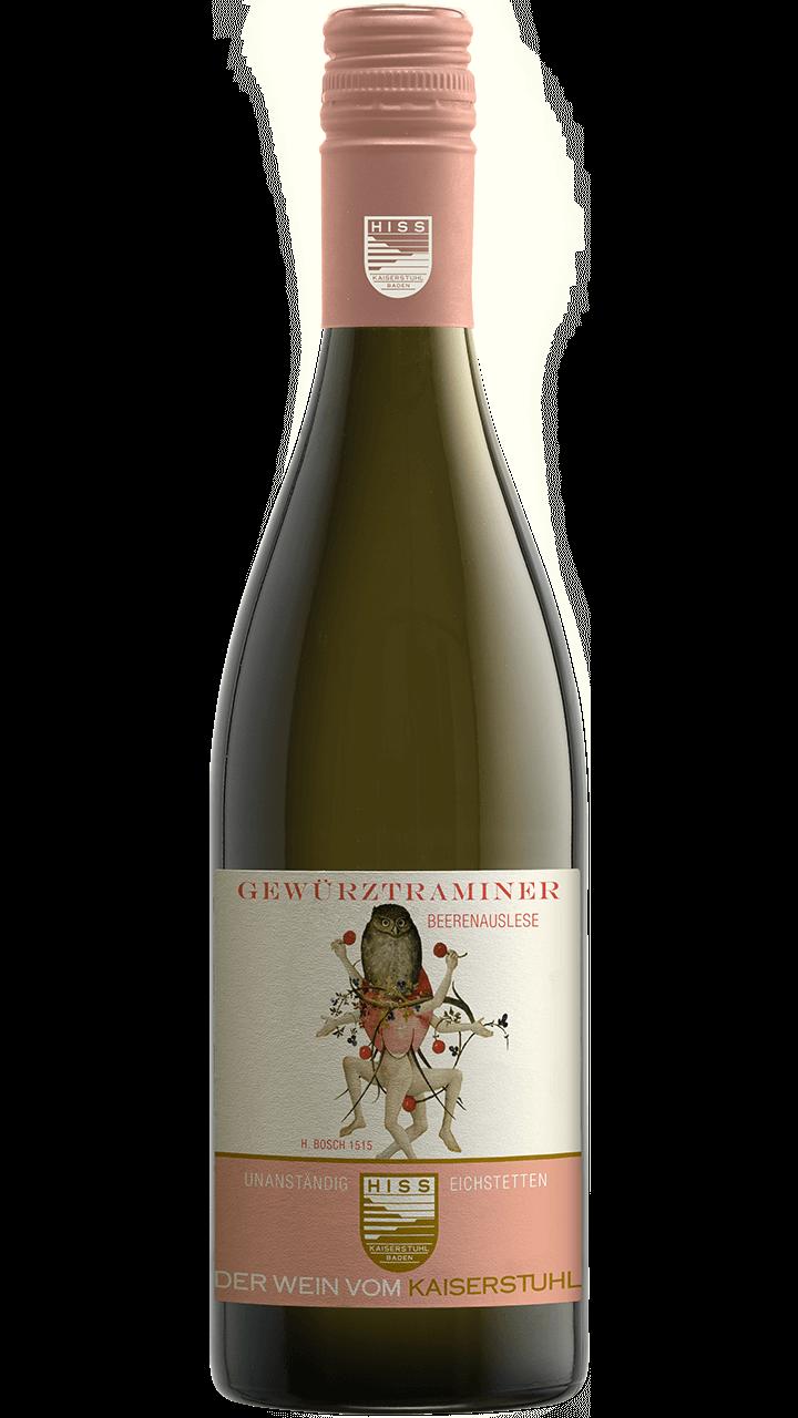 Produktfoto - Gewürztraminer Beerenauslese 2015 aus der Linie Unanständig süß von Weingut Hiss aus Kaiserstuhl, Eichstetten