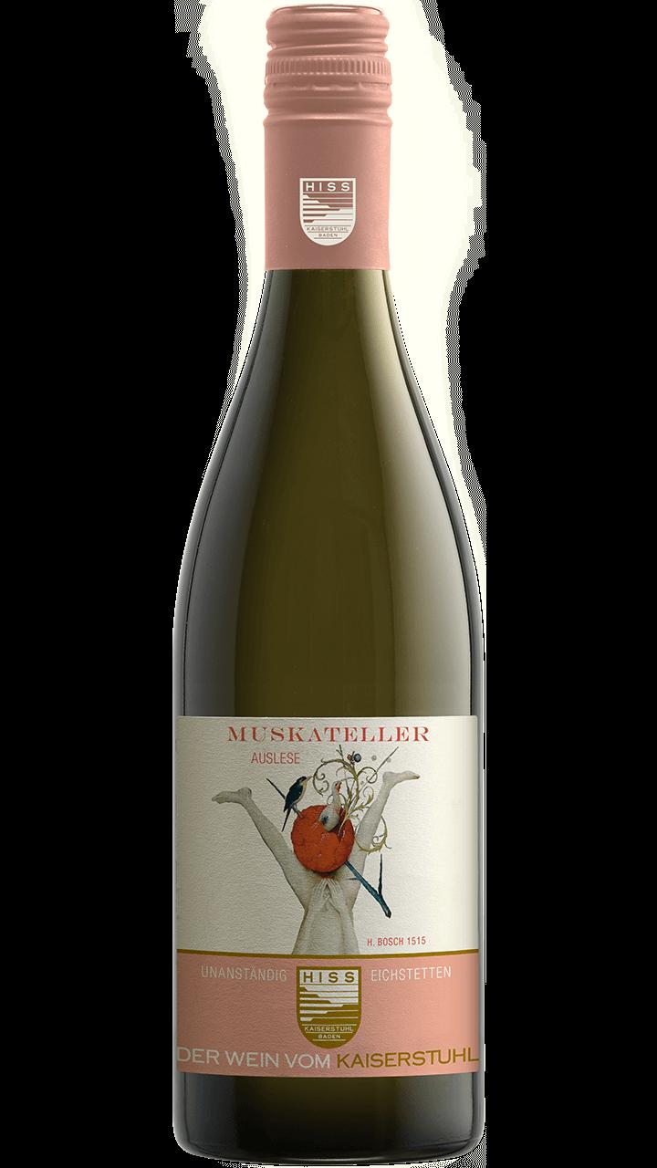 Produktfoto - Muskateller Auslese 2018 aus der Linie Unanständig süß von Weingut Hiss aus Kaiserstuhl, Eichstetten
