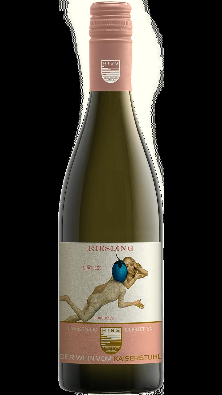 Produktfoto - Riesling Spätlese 2015 aus der Linie Unanständig süß von Weingut Hiss aus Kaiserstuhl, Eichstetten