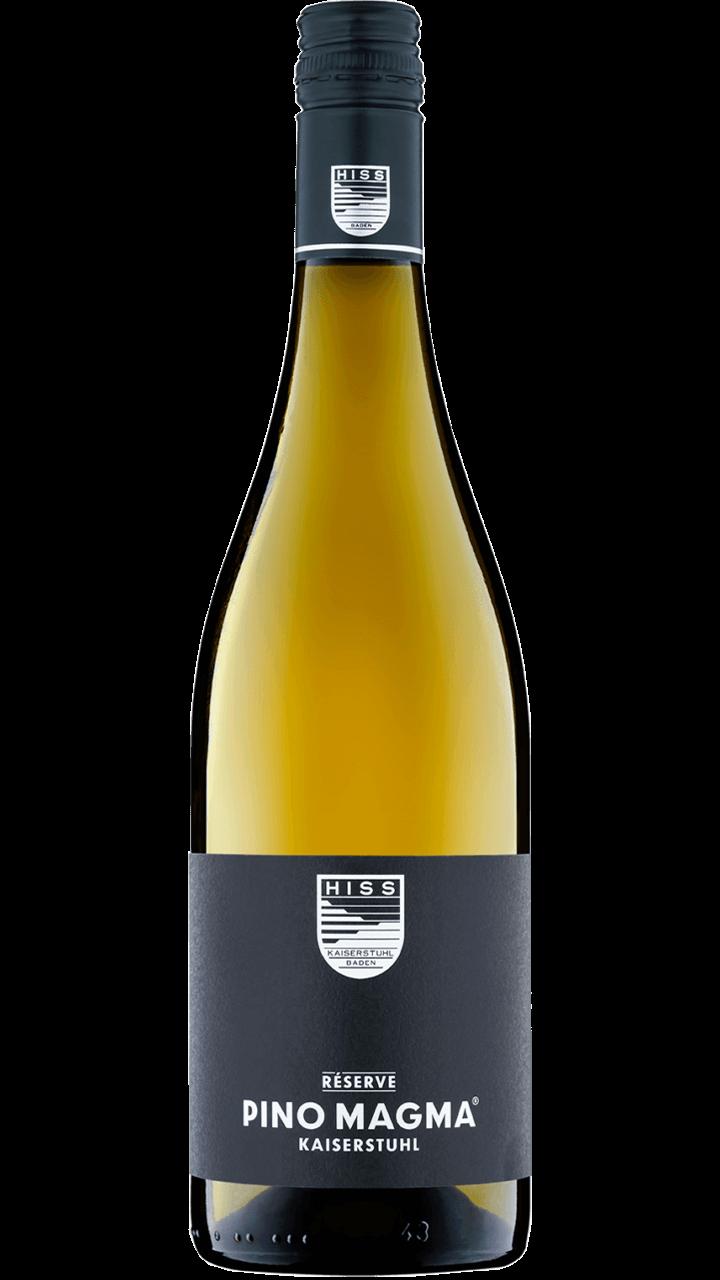Weingut-Hiss-Kaiserstuhl-Eichstetten-Bodenstaendig-Weisswein-Trocken-Flasche-750ml-Pinot-Magma-Reserve-Flaschenbild